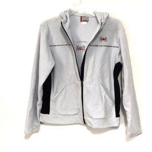 Spyder Jackets & Coats - Spyder Men's Blue Fleece Full Zip Hooded Jacket